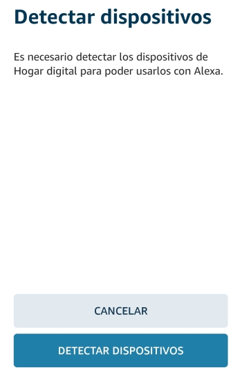 Detectar nuevos dispositivos desde Alexa