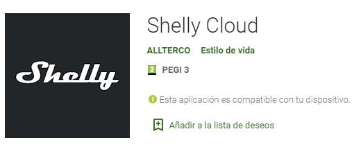 Aplicación Shelly Cloud para meter las persianas dentro de la domótica