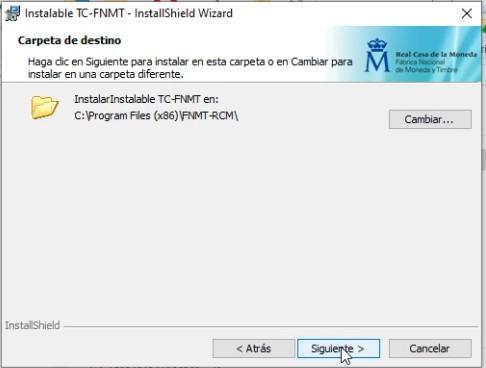 Módulo criptográfico - Directorio de instalación