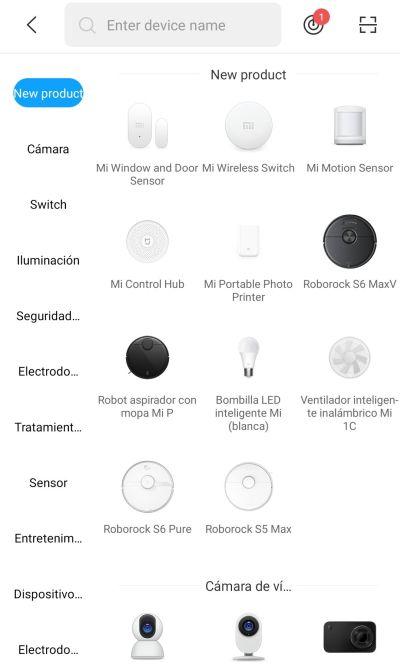 Xiaomi Mi Home - Añadir nuevo dispositivo